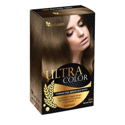 Cтойкая гель-краска для волос Ultra Color, 500 Лесной орех