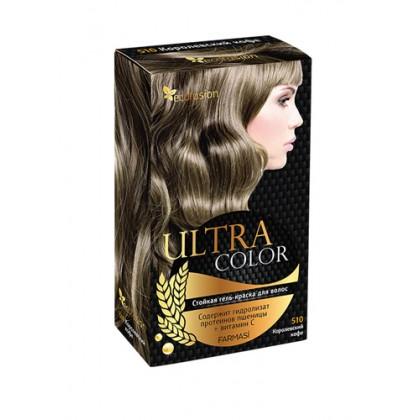 Cтойкая гель-краска для волос Ultra Color, 510 Королевский кофе