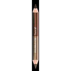Двойной карандаш для век Twin X какао с шоколадом