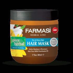 """Травяная маска для волос """"Интенсивное увлажнение"""""""