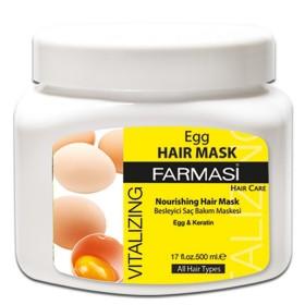 Восстанавливающая маска для волос с экстрактом яичного желтка