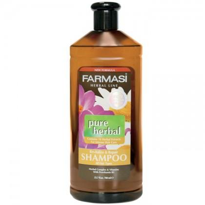 Восстанавливающий травяной  шампунь для всех типов волос