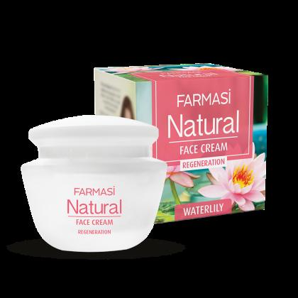 Крем для лица Natural  с экстрактом водяной лилии