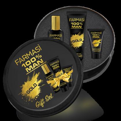 Подарочный набор для мужчин 100% Man Gold