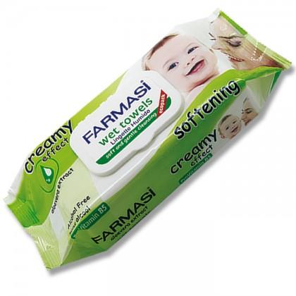 Детские влажные салфетки с кремом Baby Wet Towel Creamy Effect 72 шт