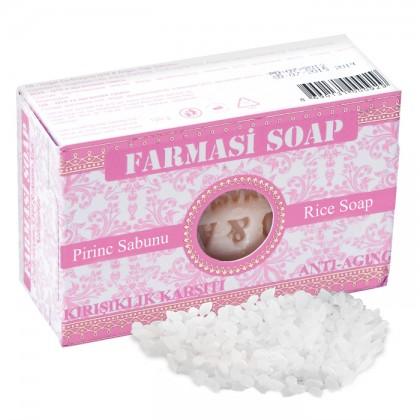 Антивозрастное рисовое мыло