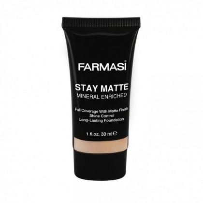 Устойчивый матирующий тональный крем Farmasi Stay Matte Foundation