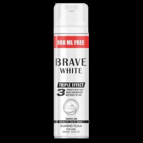 Пена для бритья Brave white