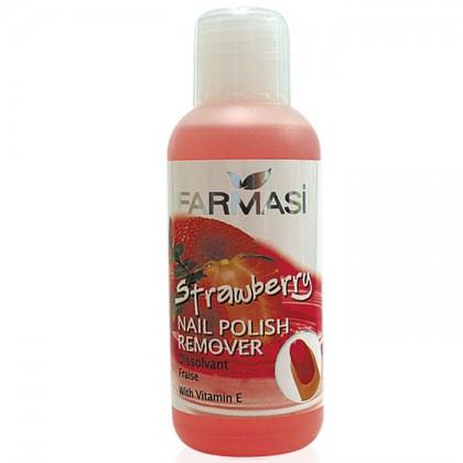 Жидкость для снятия лака клубника с витамином Е Nail Polish Remover