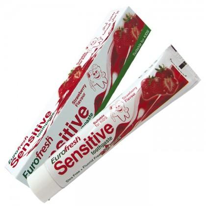 Зубная паста для детей без содержания фтора Eurofresh Sensetiv